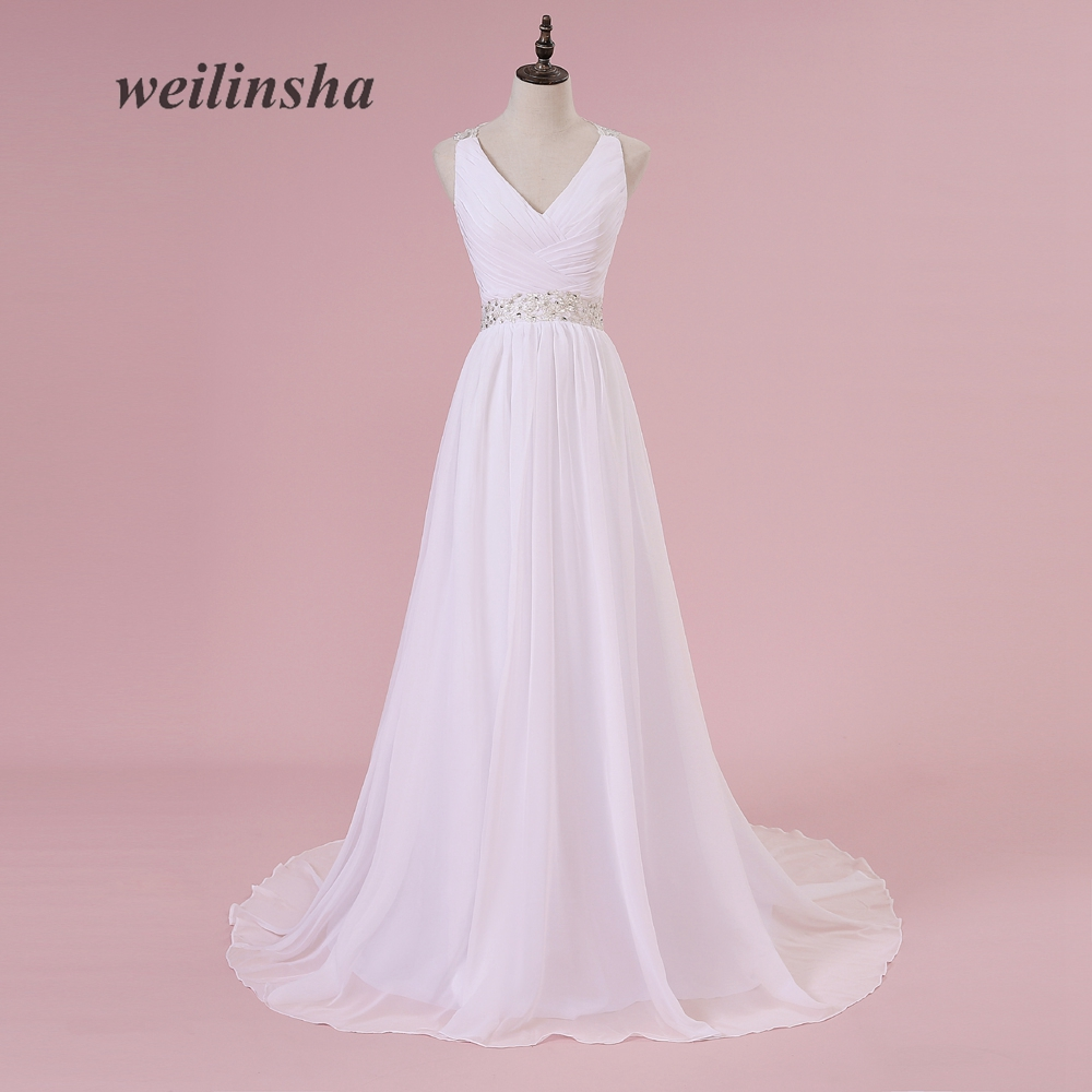Weilinsha 2017 plus size a line cheap wedding dresses in for In stock wedding dresses