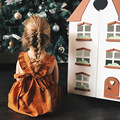 6M-3T baby girls dress Pumpkin Color Infant Summer Dress for Birthday Party Sleeveless Princess Bowknot infantil