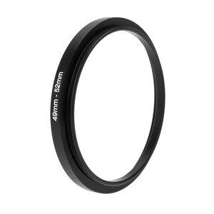Image 4 - 블랙 메탈 렌즈 어댑터 스텝 업 링 49 52mm 49mm 52mm 49 52 DSLR 렌즈 필터 스테핑 어댑터 카메라 DSLR 액세서리