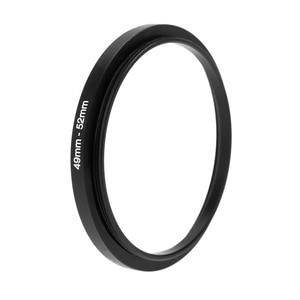 Image 4 - Black Metal Lens Adapter Step Up Ring 49 52mm 49mm 52mm 49 to 52 DSLR Lens Filter Stepping Adapter Camera DSLR Accessories