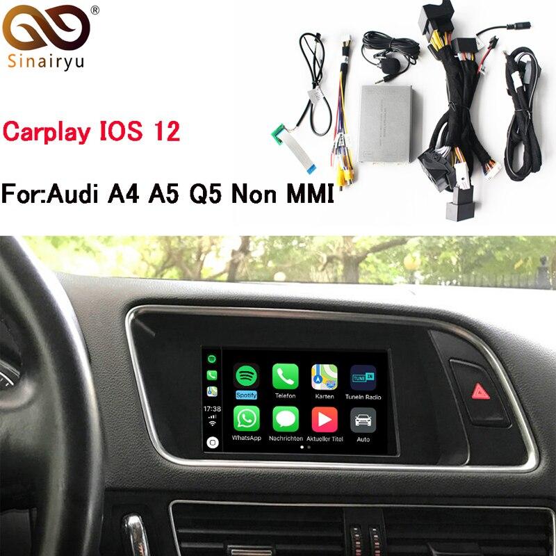 Sinairyu Vidéo Interface Avec Carplay Écran Miroir Fonctions pour A4 A5 B8 Q5 Avec Audi Concert Symphonique Modèle
