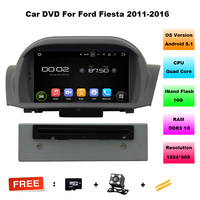 7 Inch Quad Core Android 5 11 Car Radio DVD 2 Din Player For Ford Fiesta