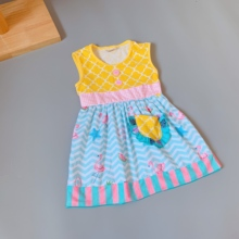 Cotton Baby Girls dress Summer floral Flower Sleeveless Infants and  toddler Kids ruffled dresses for kids cute princess dress 2015 summer new stylish kids toddler girls princess dress sleeveless polka dots bowknot dress top quality cute