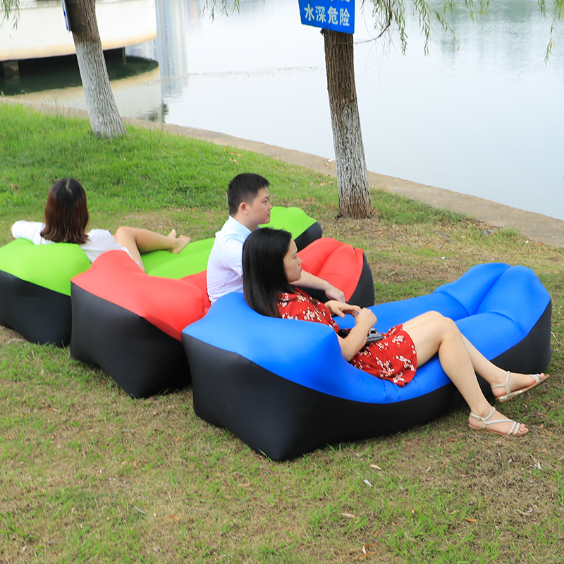 2020 Hot Sale Beach Chair Camping Air Sofa Bed Lounger Laybag Outdoor Fast Folding Sleeping Inflatable Lazy Sofa Lazy Bag