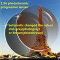 1.56 photochromic multifocal progresiva presbicia y calidad lentes recetados miopía anti arañazos súper delgada CR39 lente