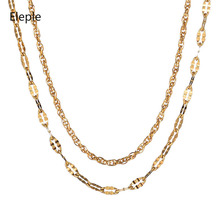 Eleple Titanium Steel Exquisite Lip Chain Lady Square Necklace Gifts Clavicle Jewelry Wholesale Manufacturers S-E190