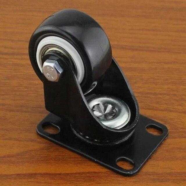 40mm Heavy swivel flat wheel steering ultra quiet furniture casters KF509
