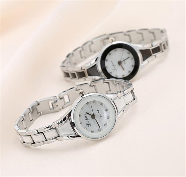 Igh Quality Women Watch Elegant Luxury Fashion Casual Bracelet Hot Sale Silver C