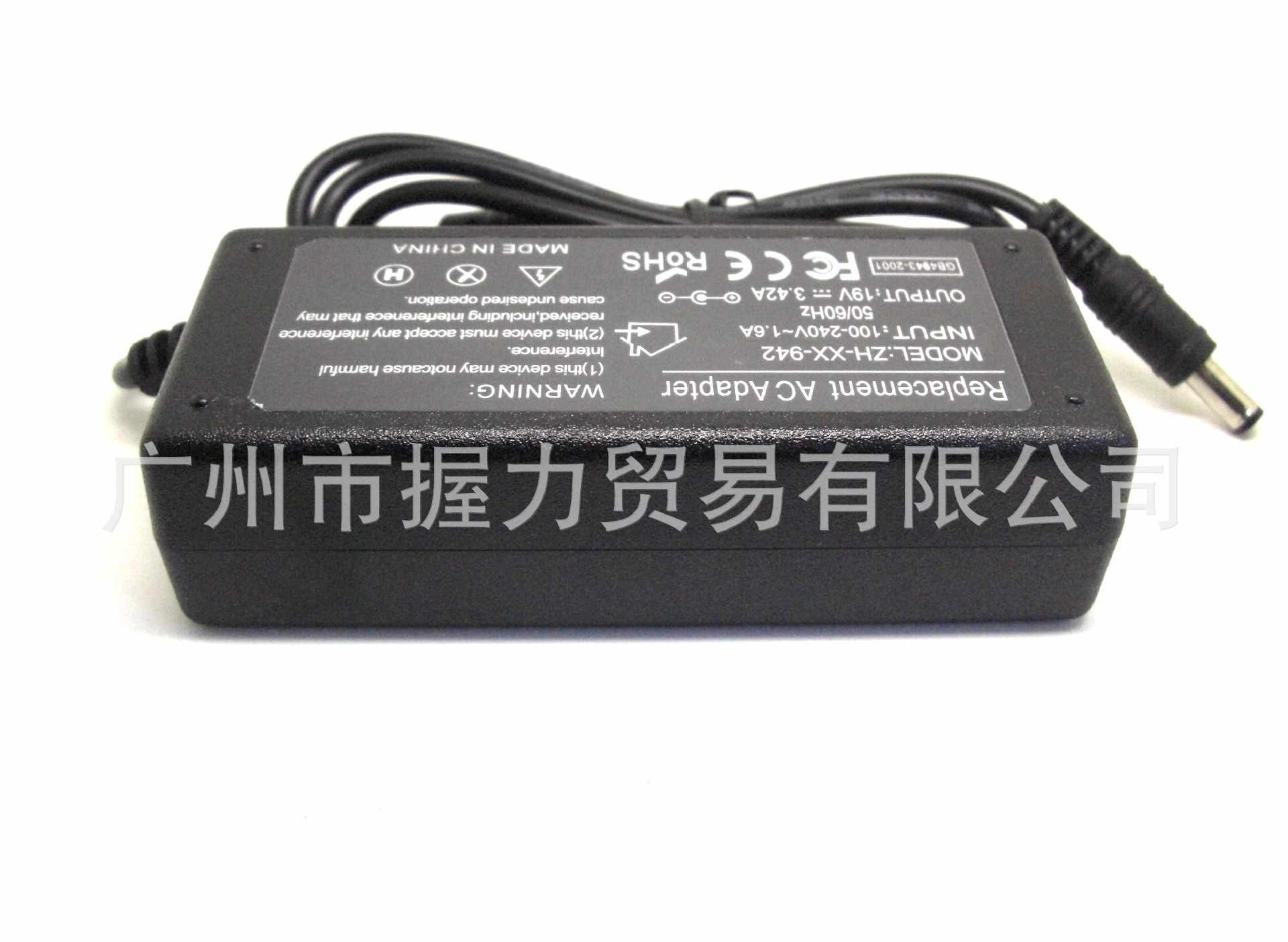 19V 3.42A 65W محمول Ac محول الطاقة شاحن لينوفو G530 G550 G555 G560 Y450 Y530 Y470 U450 U550 5.5 مللي متر * 2.5 مللي متر