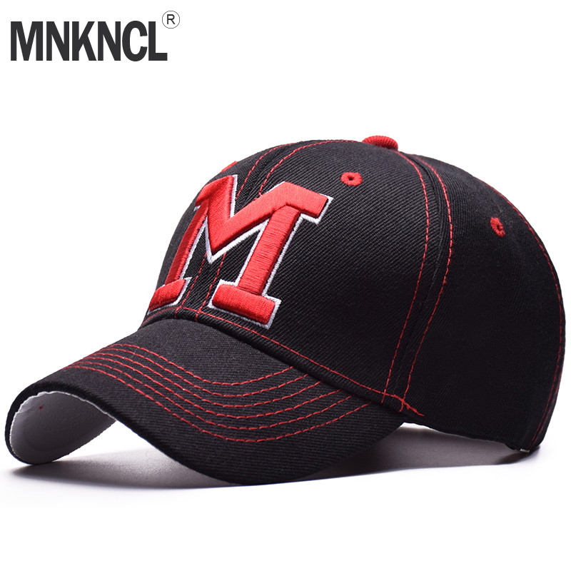 MNKNCL High Quality Unisex 100% Cotton Outdoor   Baseball     Cap   M Embroidery Snapback Fashion Sports Hats For Men & Women   Caps