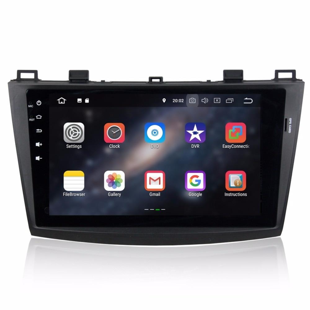 "Best 2GB RAM Quad core 2 din 9"" Android 8.1 Car DVD Player for Mazda 3 2010 2011 2012 GPS Radio Bluetooth USB WIFI 16GB ROM 1"