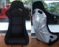 One Lot 2 Pcs Buckets Series Car Seat MO Silvery Fiberglass Frame Black Blue Red Alcantara