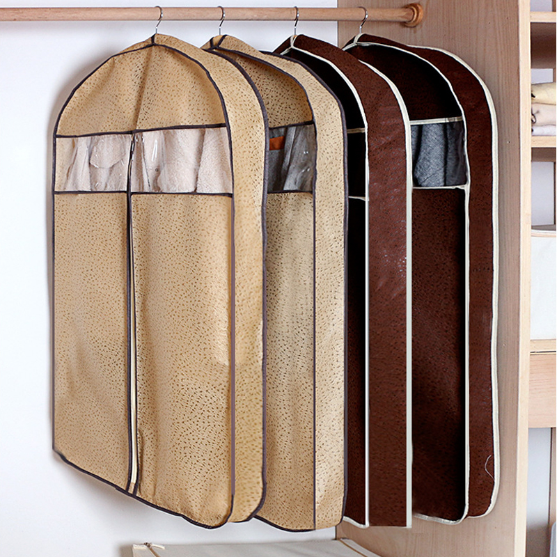 Household Three-dimensional Coat Fur Clothes Dust Cover Long DownJacket Suede Dust Clothing Storage Bag Clothing Covers Hanging