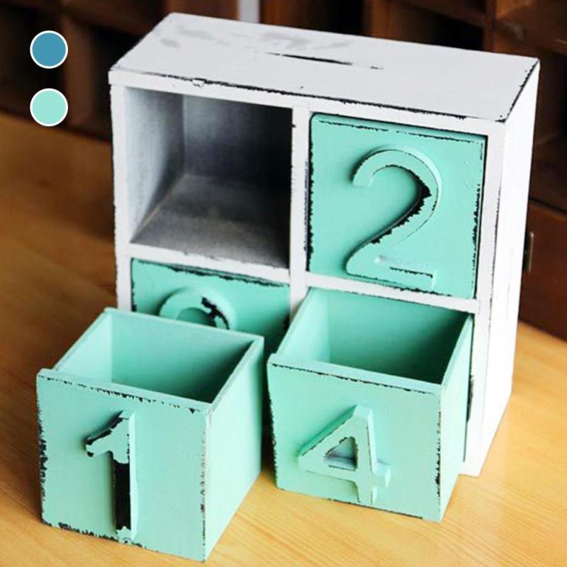 Home Furnishing wood storage box cosmetics jewelry Sundries Box grocery wood storage bin lockers drawer type storage box #25