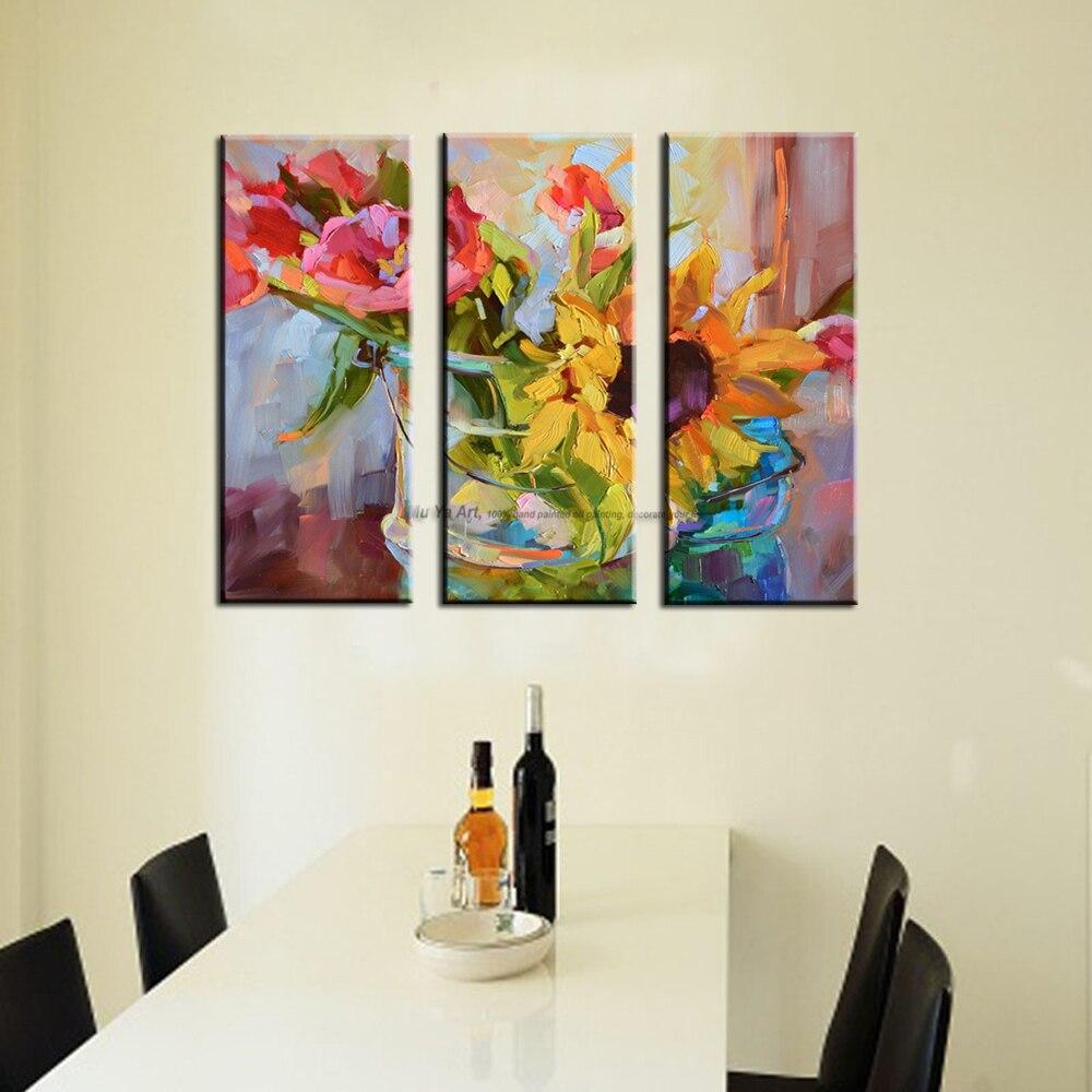 3 stück abstrakte moderne leinwand wand kunst dekorative acryl ...