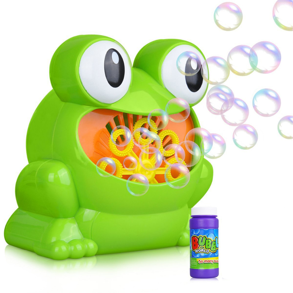 Bubble Machine, Automatic Frog Bubble Blower Machine Make Over 500 Bubbles per Minute for Kids Birthday Party, Wedding, Indoor
