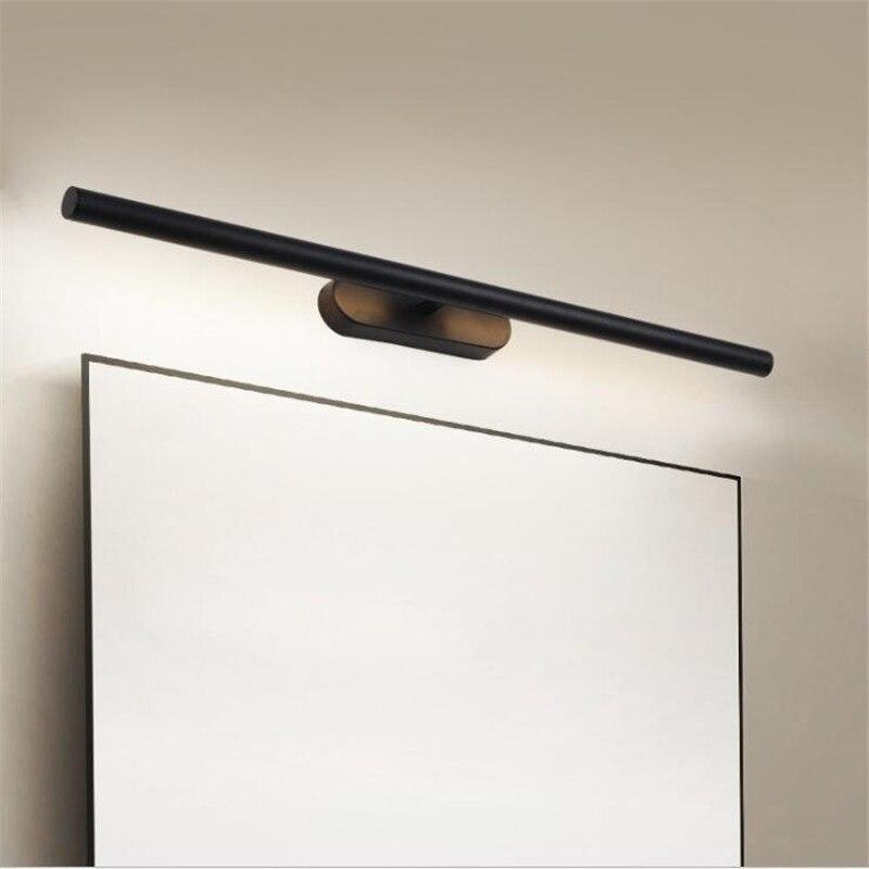 Современный простой черный/белый светодиодный настенный светильник для ванной комнаты, водонепроницаемый противотуманный зеркальный све... - 4