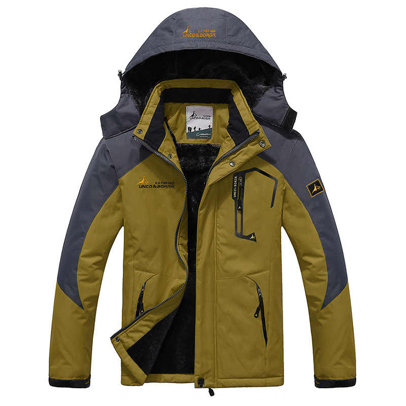 2019 大サイズ 9 色ウォーム生き抜く冬のジャケットの男性防風フード男性ジャケット暖かい男性パーカーサイズ L-6XL