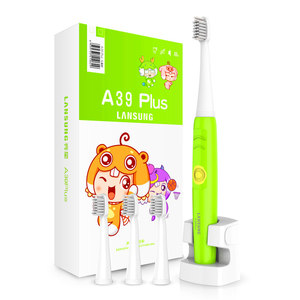 Image 3 - LANSUNG Child Eectric Toothbrush With 8 Heads Sonic Toothbrush Kids 3C Ultrasonic Tooth Brush Rechargeable 220V