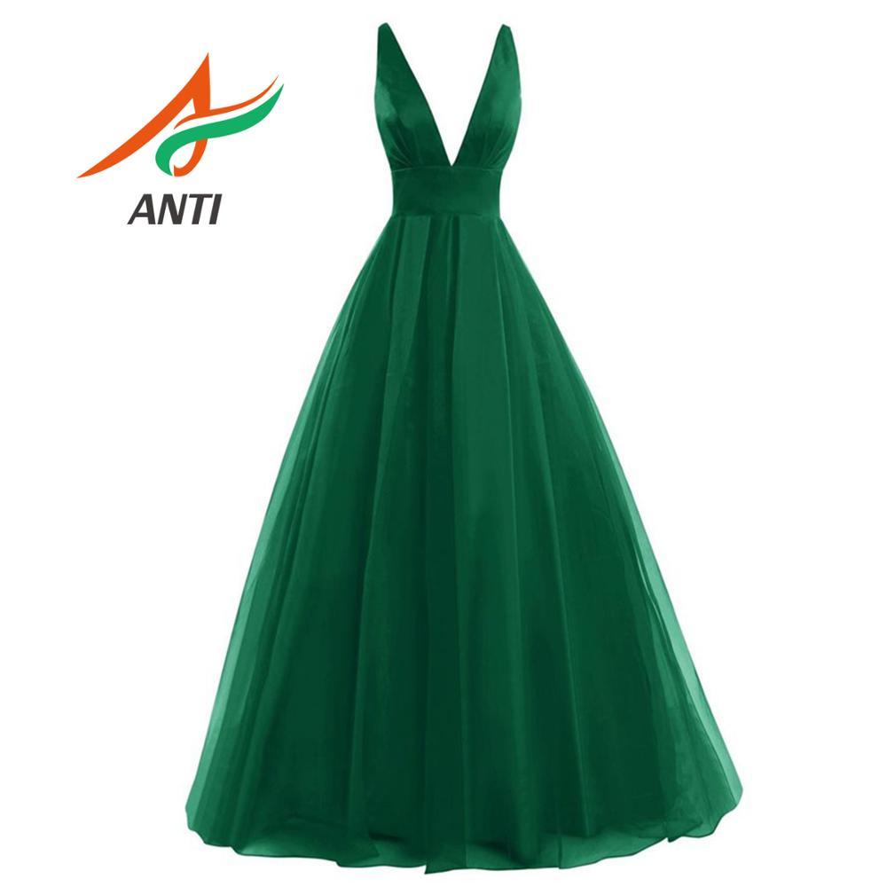 ANTI 2019 nouvelle Sexy sirène vert foncé robe de soirée longue conception spéciale avec sans manches robe de soirée femme formelle robes de soirée