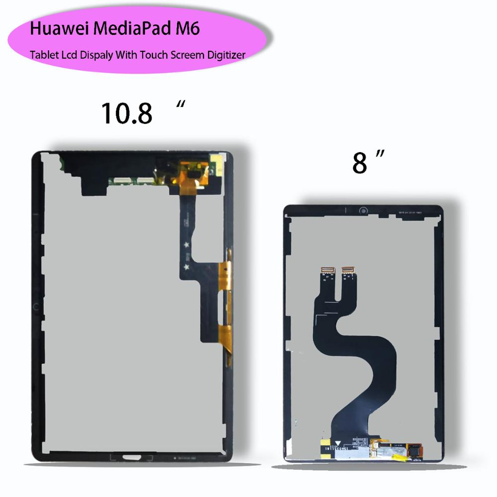 New Original LCD For Huawei MediaPad M6 10.8/ 8.0 SCM-W09 SCM-AL09 SM-W09 Wifi LCD Display With Touch Screen Digitizer Assembly