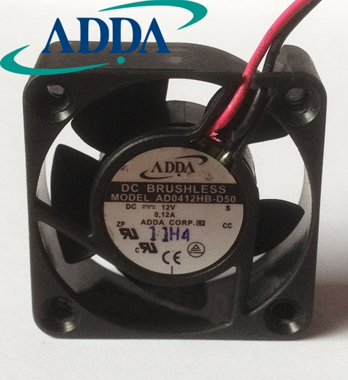 FOR ADDA 4015 AD0412HB-D50 4cm 40mm 12V 0.12A Cooling Fan