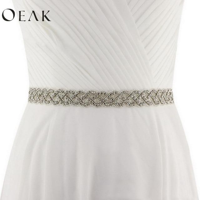 Oeak cinturón de diamantes de imitación cinturón de cristal de novia cinturón de dama de honor vestido de baile vestido de noche de boda fiesta novia dama de honor de la correa