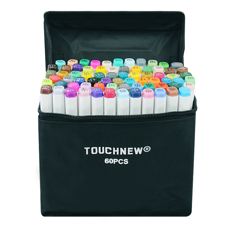 TOUCHNEW 30/40/60/80 Colors Art Markers Dual Head Sketch Alcohol Based Marker Set Best For Drawing Manga Design Art Supplies touchnew artist double headed sketch marker set 30 40 60 80 colors alcohol based manga art markers for drawing design supplies
