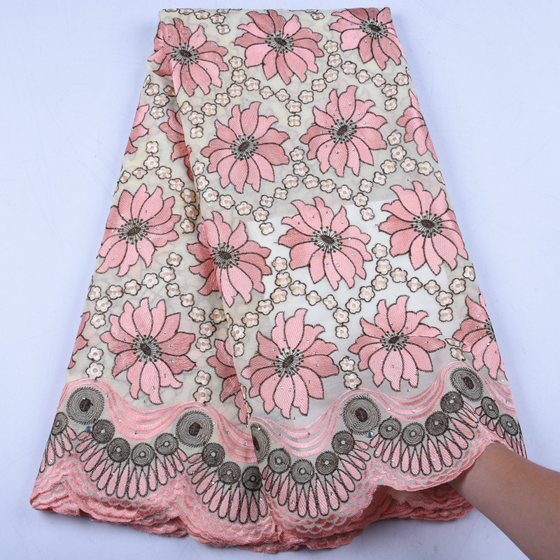 Swiss Voile Lace in Switzerland High Quality 2019 Embroidery Nigerian Cotton Lace Swiss Lace Fabric For