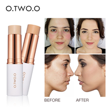 O.TWO.O Magical Concealer Stick Foundation Makeup Full Cover Contour Face Concealer Cream Base Primer Moisturizer Hide Blemish face full cover contour concealer stick foundation 3 colors moisturizer dark eye circle hide blemish bronzer facial base makeup