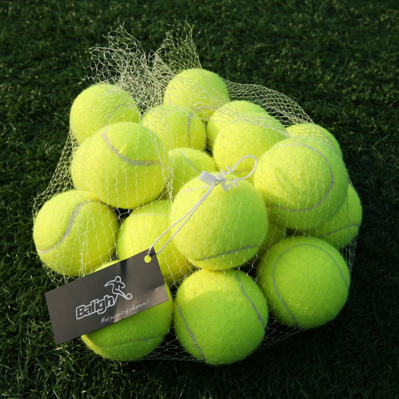 18pcs/lot Tennis Balls With Net Sports Tournament Outdoor Fun Cricket Beach Dog High Quality Sport Training From USA Shipping