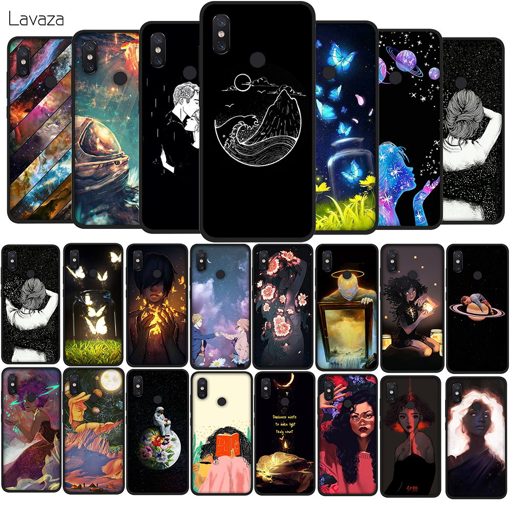 Lavaza Space girl Soft TPU Case for Xiaomi Redmi Note 5 6 7 Pro for Redmi 5A 6A S2 5 Plus Silicone Cover in Fitted Cases from Cellphones Telecommunications