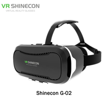Shinecon VR II 2.0 Helmet Cardboard Virtual Reality Glasses Mobile Phones 3D Video Movie for 4.7-6.0 Smartphone with Gamepad