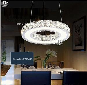 Image 4 - נירוסטה עגולה led עגול אוכל סלון מודרני מינימליסטי נברשות חדרי מלון XXT 009