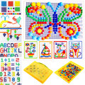 3D Kids Mosaic Mushroom 296pcs Nails Plug Beads Puzzles Game Assembled Toy