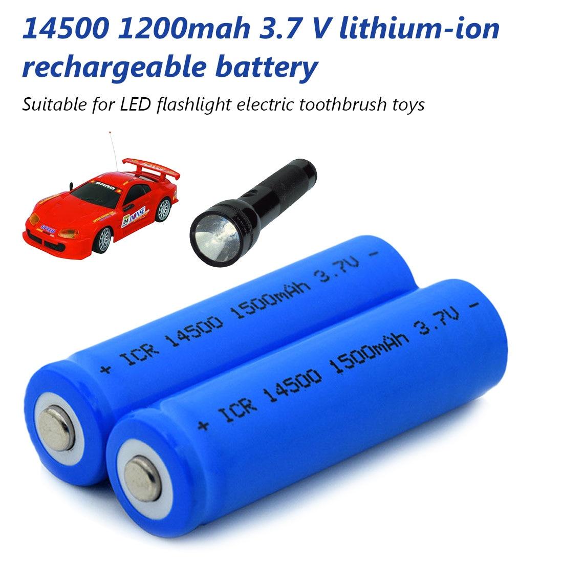 1/2 /4/8/12Pcs/Set AA 14500 800mah 3.7 V Lithium Ion Rechargeable Li-ion Battery For Led Flashlight Headlamps