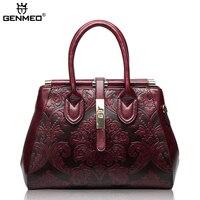 Новое поступление известный бренд Дизайн Винтаж Для женщин Сумки Для женщин Пояса из натуральной кожи Курьерские сумки женские сумки с нес