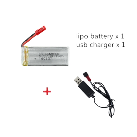 <font><b>3.7V</b></font> <font><b>800mah</b></font> 25C 802555 <font><b>lipo</b></font> <font><b>battery</b></font> with usb cable For TK110HW JRC H12C H12W JXD 509 509W 509G RC Drone Quadcopter parts image