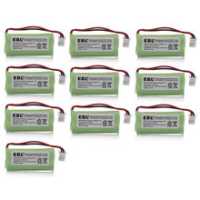 10pcs/lot EBL 600mAh 2.4v Ni-MH Replacement Battery For VTech Cordless Home Phone BT166342 BT266342 BT183342 BT283342(China)