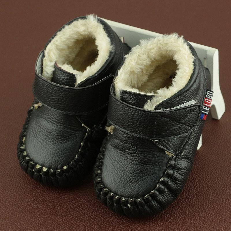 2018 Winter Newborn Baby Leather Boots Infant Baby Toddler Shoes 0-6-12 Month Winter First Walkers