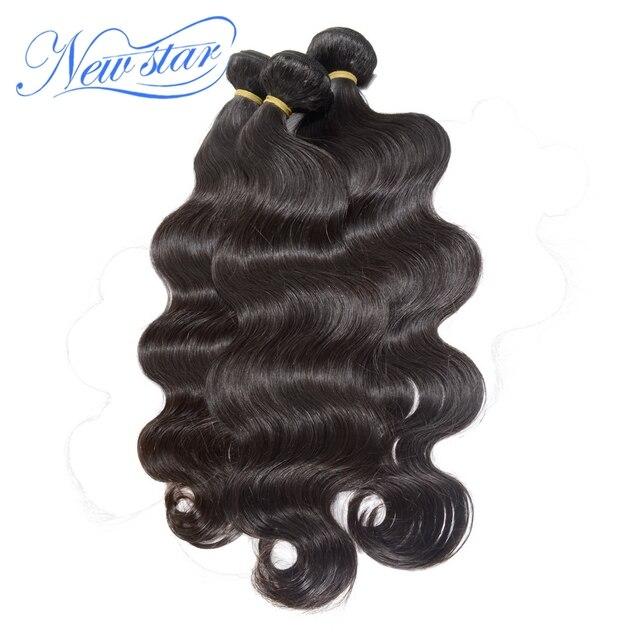 New star Индийский Девы волос объемной волны 3 пучки смешиваются много натуральный цвет здоровых донорских волос с кутикулы нетронутыми бесплатная доставка