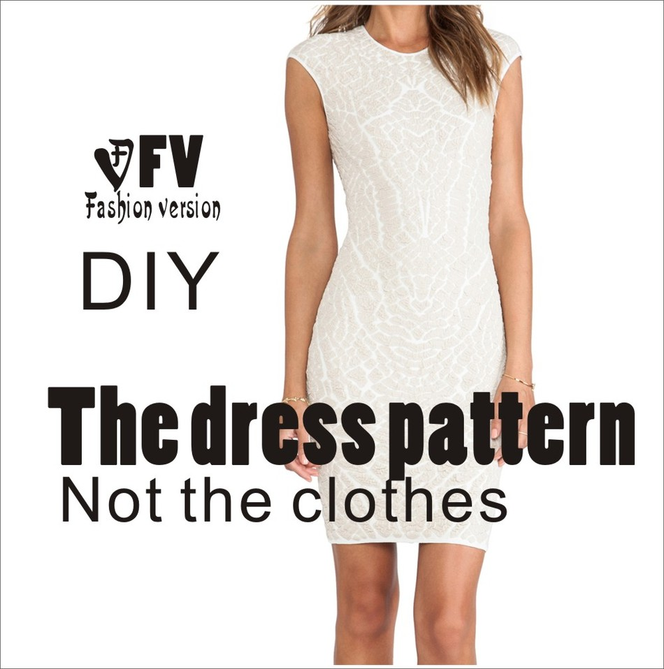 Dresses Sewing Pattern Template KNIT Elasticity is very big Cutting ...