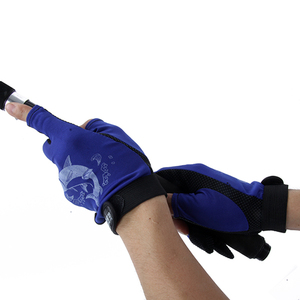 1 Pair Skidproof Resistant Half Finger Pack Fishing Rod Anti-Slip Gloves New Outdoor Fishing Equipment Gloves 2017