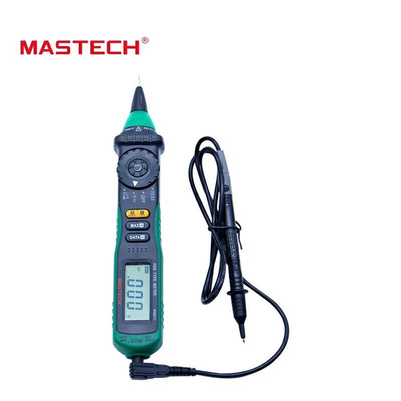 MASTECH MS8211 no en contacto con pluma multímetro Digital de tipo no-Contacto de voltaje CA Detector de Auto-van Clip de prueba