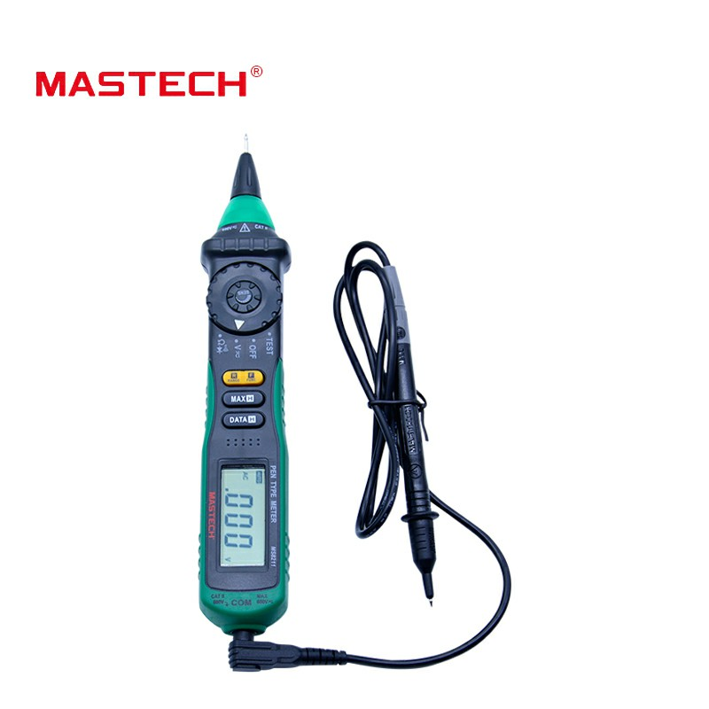 MASTECH MS8211 non contact Pen-type Digital Multimeter Non-contact AC Voltage Detector Auto-ranging Test Clip mastech ms8211 pen type digital multimeter with ncv tester non contact ac 600v voltage detector ohm multi tester with 2 7v diode