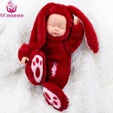 UCanaan 19 hüvelyk Plüss Játékok Hosszú fülek Alvó nyúl Lágy játék gyerekeknek Divat karácsonyra Születésnapi ajándék