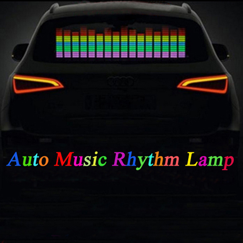 Car Music Rhythm Lamp Sound Music Voice-activated Colorful Flash LED Light EL Sheet Car Stickers Exterior Accessories
