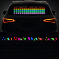 Car Music Rhythm Lamp Sound Music Voice activated Colorful Flash LED Light EL Sheet Car Stickers Exterior Accessories