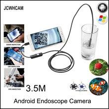 купить JCWHCAM Endoscope Android Camera HD 720P 8mm 5M Snake Tube Inspection Camera Car Endoscope USB Flexible Camera Waterproof дешево