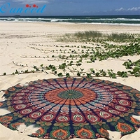 Good Quality India 150cm Round Beach Pool Home Shower Towel Blanket Table Cloth Yoga Mat Jan19